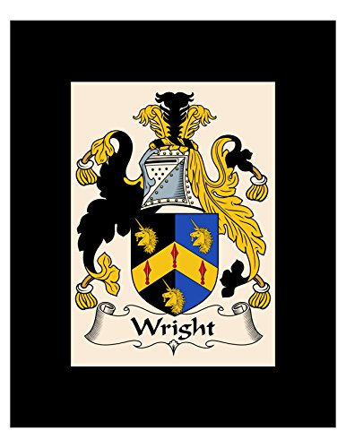 (Wright Coat of Arms/Wright Family Crest 8X10 Photo Plaque, Personalized Gift, Wedding Gift)