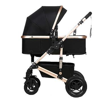 Yhz@ Cochecito de bebé, Plegable Ligero del Amortiguador de los niños Empuje los carros