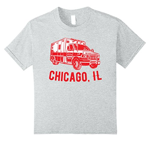 Kids Ambulance Driver T-shirt for Chicago, IL 8 Heather Grey