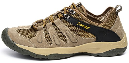 ODEMA Men Summer Lace-up Outdoor Climbing Tourism Mountain Sneakers Gray xoGEB