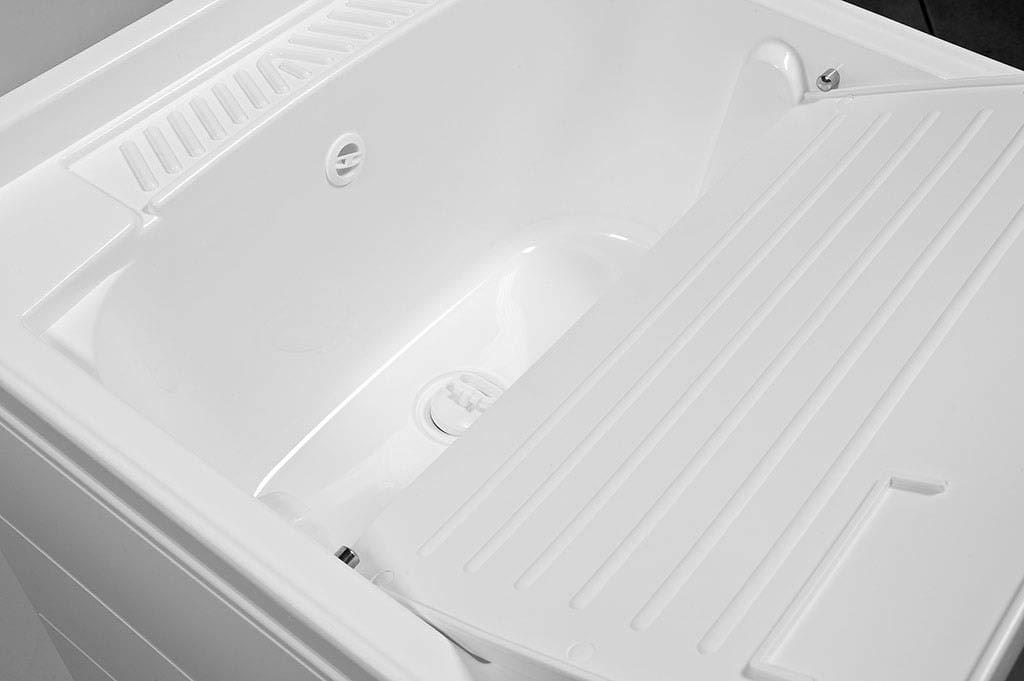 gaddini Mobile Lavatoio da Esterno 84x50x60 cm in PVC 2 Ante TopLav Bianco