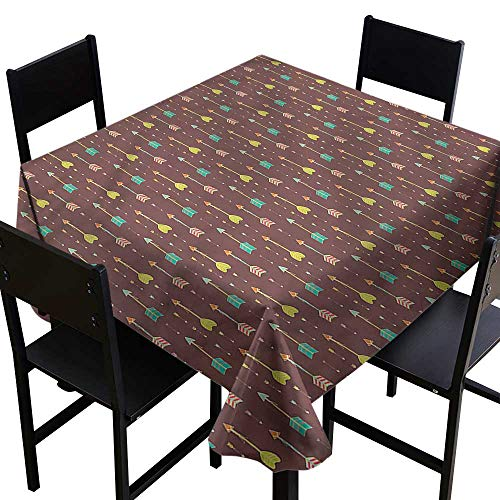 haommhome Washable Table Cloth Arrow Native American Boho Country and Durable W70 xL70 Indoor Outdoor Camping Picnic