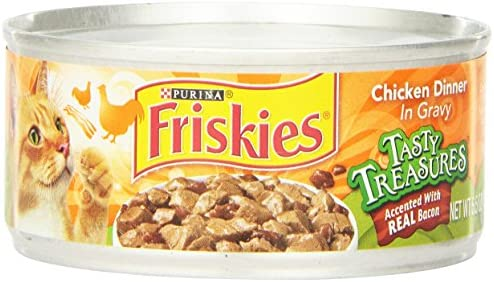 Purina Friskies Tasty Treasures Chicken With Bacon, 24 By 5.5 Oz.