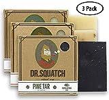 Dr. Squatch Men's Soap Sampler Pack (3 Bars) – Pine Tar, Cedar Citrus, Bay Rum Bars – Natural Manly Scented Organic Soap for Men (3 Bar Bundle Set)