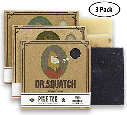 Dr. Squatch Men's Soap Sampler Pack (3 Bars) – Pine Tar, Cedar Citrus, Bay Rum Bars – Natural Manly Scented Organic Soap for Men (3 Bar Bundle Set) (Bath Soap Scented)