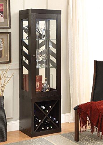 Coaster Home Furnishings 950542 Curio Cabinet, Cappuccino