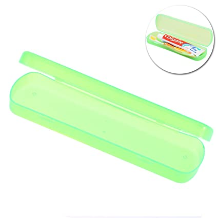 OUNONA Estuche Caja Funda Cubierta para Cepillo de Dientes Pasta de Dientes Portátil (Verde)