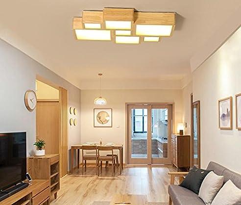 Kreative einfachen Holzdecke moderne großes Wohnzimmer Lampe ...