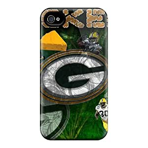 SherriFakhry Iphone 4/4s Durable Hard Phone Case Unique Design Vivid Green Bay Packers Pattern [eEQ17586JsUj]