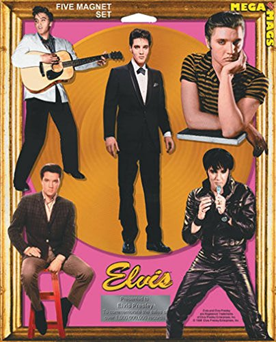 [Ata-Boy Elvis Mega Mags Set of Five Character Magnets] (Official Elvis Presley Microphone)