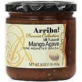 Arriba! Mango Agave Fire Roasted Salsa, 16 Ounce Jars (Pack of 4)