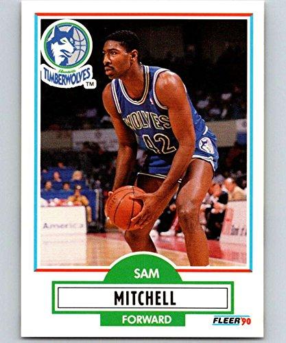 Basketball NBA 1990-91 Fleer #114 Sam Mitchell #114 NM+ RC Rookie Timberwolves