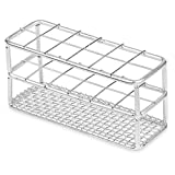 Stainless Steel Test Tube Rack, 25mm, 12 Place, Wire Constructed, Karter Scientific 234N3 (Single)