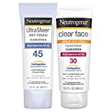 Neutrogena Clear Face Sunscreen Clear Face & Ultra Sheer Protection Pack