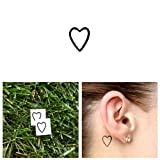 Tattify Small Heart Outline Temporary Tattoo - A little love (Set of 2) - Other Styles Available and Fashionable Temporary Tattoos