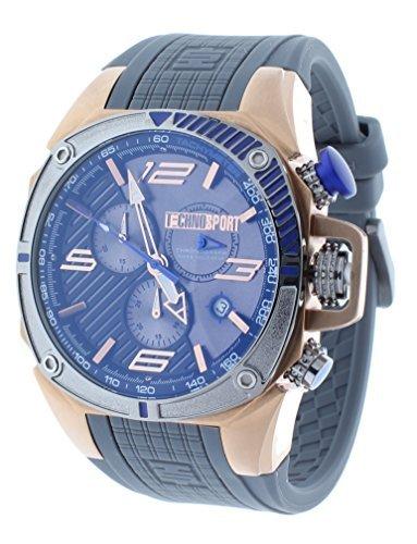 Technosport TS-100-6F1 Mens Watch Formula 1 Gray & Blue Swiss Chronograph Rose Gold - Kohrs Micahel