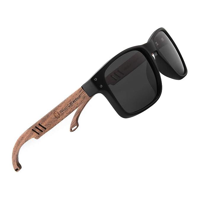 Amazon.com: Skadino - Gafas de sol de madera con lentes ...