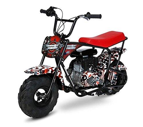 Monster Moto Mm B105 Afm 105Cc Gas Mini Bike With Mag Wheels  American Flag