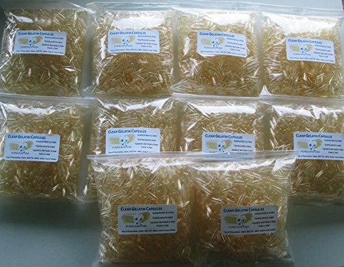 Gelatin Purified Water - PurecapsUSA - Empty Gelatin Capsules - Size 1 (10,000 Capsules)