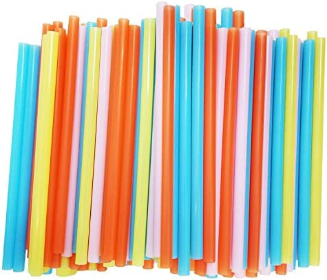 Jumbo Smoothie Straws Assorted Colors product image