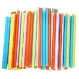 Jumbo Smoothie Straws, Assorted Colors [100 Pack]