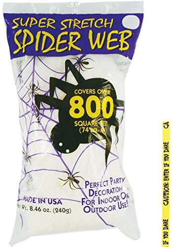 Bundle  2 Items   240 Gram Super Stretch White Spider Web And Free Caution Tape Chosen At Random  Comes With Free How To Live Stress Free Ebook