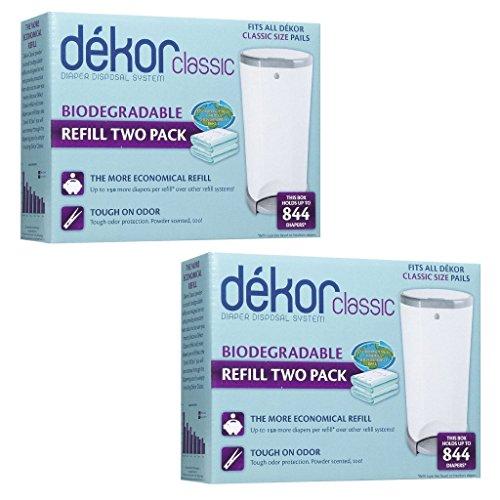 Diaper dekor refills biodegradable 4 pack regular for Dekor classic diaper pail refills
