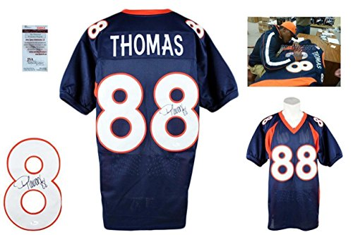 Signed Demaryius Thomas Jersey - Witness NVY - JSA Certified - Autographed NFL Jerseys