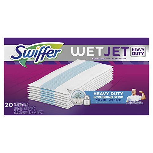 Price comparison product image Swiffer WetJet Extra Power with Mr. Clean MagicEraser Hardwood Floor Cleaner, Spray Mop Pad Refill, 20 Count