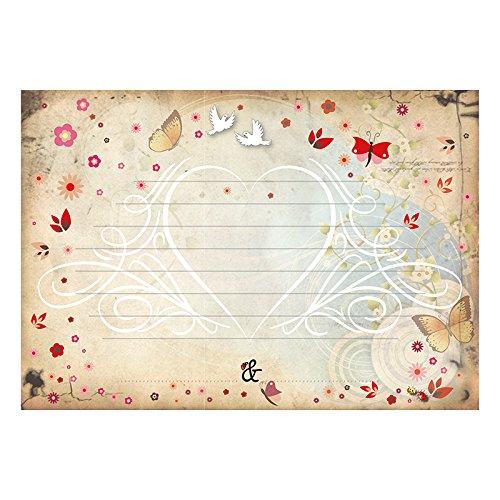 60 Danksagungskarten Danksagungskarten Danksagungskarten Märchenhochzeit zum selber Ausfüllen - Klappkarten A6 mit KuGrüns B07BH41B3W Grukarten & Einladungsumschlge Berühmter Laden c60443