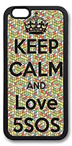 iphone 6 case, iphone 6 covers, Keep Calm And Love 5Sos Custom Design hard Rubber pc hard Case Protective Cover for Apple iphone 6 4.7 Inch Black