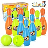 TAGI Bowling for Kids Plastic Bowling Playset for Kids Suitable as Teaching Toys, Early Education, Indoor & Outdoor Games, Great for Toddler Preschoolers and School-Age Child, Boys & Girls