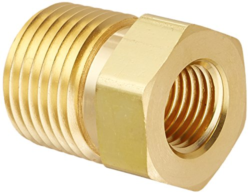Parker 8-4 RB-B Brass Pipe Fitting, Reducing Hex Head Bushing, 1/2