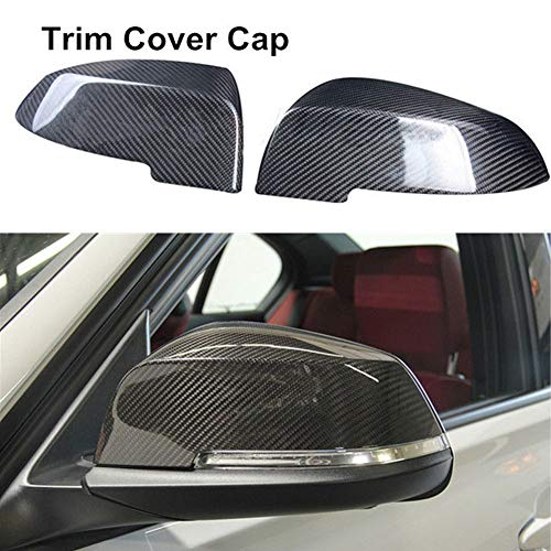 YUSHHO56T Car Mirror Cover Car Exterior Parts Mirror Cover 1 Pair Carbon Fiber Car Mirror Cover Caps for BMW 5 Series E60 F10 2014-2017
