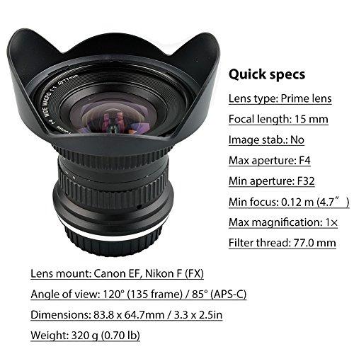 high-quality Lightdow 15mm F/4 1:1 Macro + Wide Angle FF(Full-frame ...
