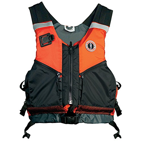 Mustang Near Shore Water Rescue PFD, Orange/Black, Medium/Large (Rescue Life Vest)