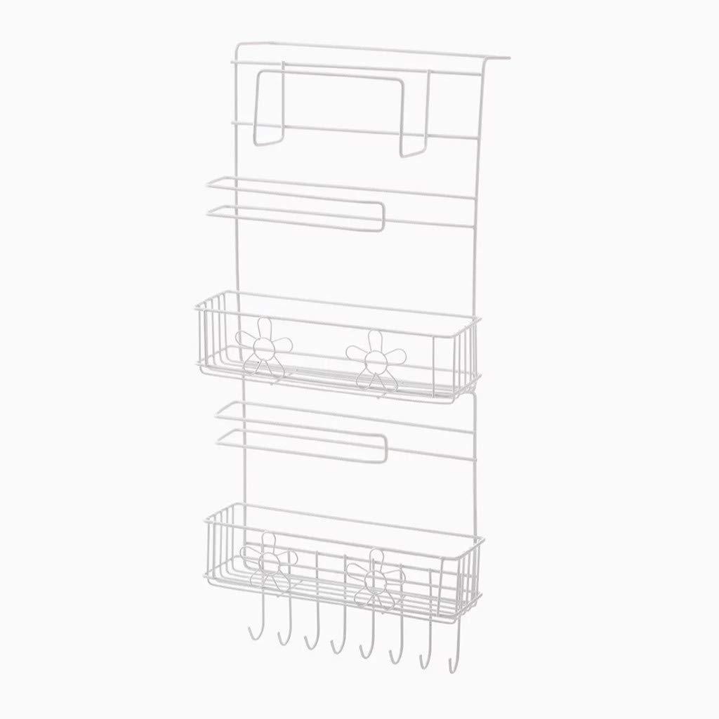 CreazyBee Multi Multilayer Refrigerator Side Shelf Rack Storage Tool Home (White) by CreazyBee