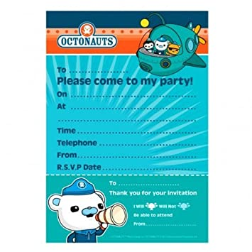 Octonauts Party Birthday Party Invitations x 20 Amazoncouk