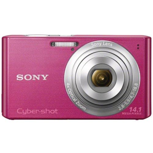 SONY Cyber-shot W610 (14.10MCCD/x4 Optical zoom) Pink DSC-W610/P - International Version (No Warranty) (Sony Dsc W610)