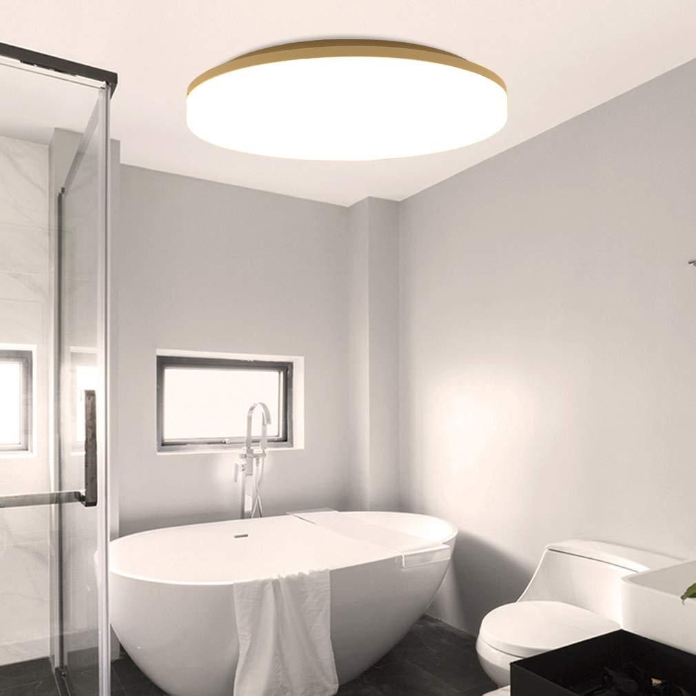 Lamker 20W LED Deckenleuchte 20K Runde Modern Wasserfest IP20 ...