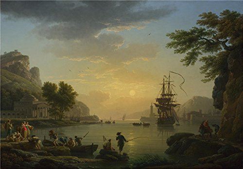'Claude Joseph Vernet A Landscape At Sunset '