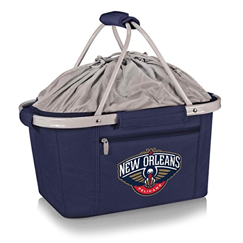 - PICNIC TIME NBA New Orleans Pelicans 645-00-138-314-4'Metro Basket' Collapsible Cooler Tote, Navy, One Size