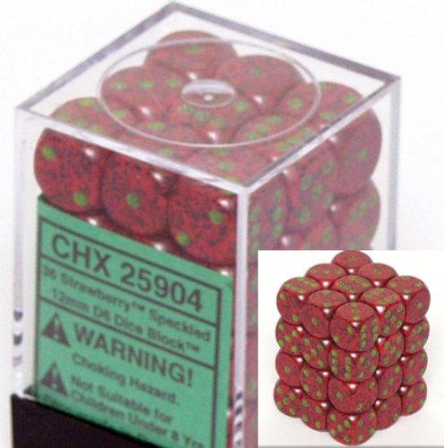 【現金特価】 Chessex Dice d6 Sets: - Strawberry Speckled - d6 12mm Six Strawberry Sided Die (36) Block of Dice B000RZP616, オゾンアソシア除菌消臭:67723d40 --- cliente.opweb0005.servidorwebfacil.com