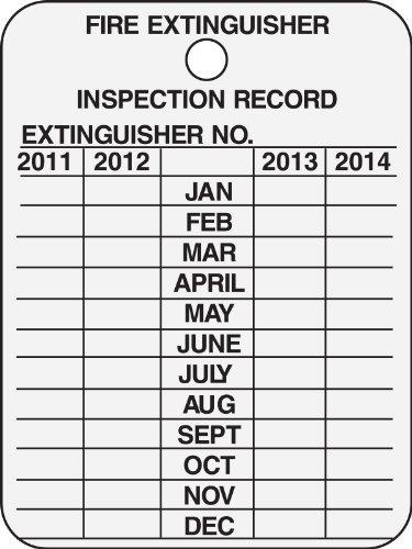 Brady 103632 Year Metal Inspection
