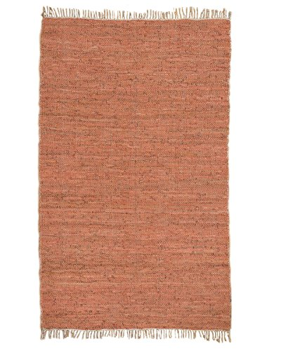 Natural Area Rugs Hand Loomed Brasada Leather Rug, (5' x 8') - 5' x 8'