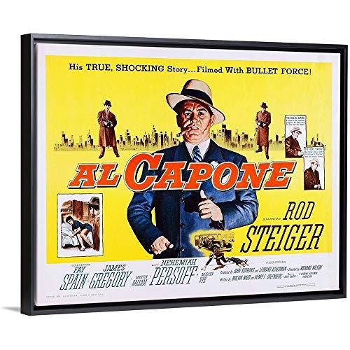"Floating Frame Premium Canvas with Black Frame Wall Art Print Entitled Al Capone 20""x16"""