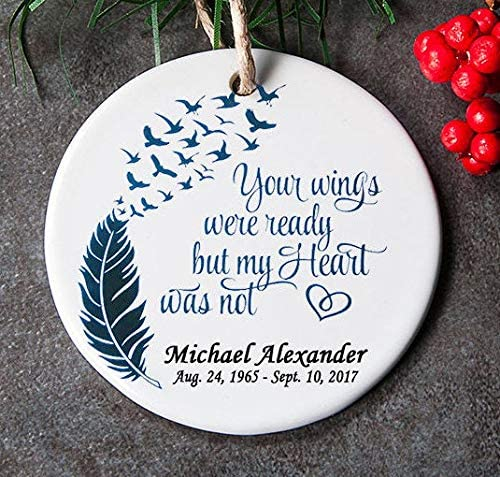 Christmas Tree Angel Wings Decoration Boxed Remembrance//In Memory Of Gift