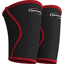 Knee Support Sleeves (PAIR) - Compression for Weightlifting, Powerlifting, Xfit, Squats, Pain Relief & Running - By Rip Toned - Lifetime Warranty