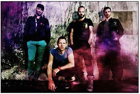 Wandkunst Bilder Coldplay Band Musikgruppe Farbe Poster Kunstdruck Leinwand Malerei Kunst Schlafzimmer Dekoration 40X70Cm Ohne Rahmen