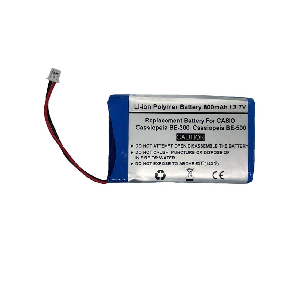 800mAh/3.7V Replacement Battery for CASIO Cassiopeia BE-300, Cassiopeia BE-500, CASIO CGA-1-105A